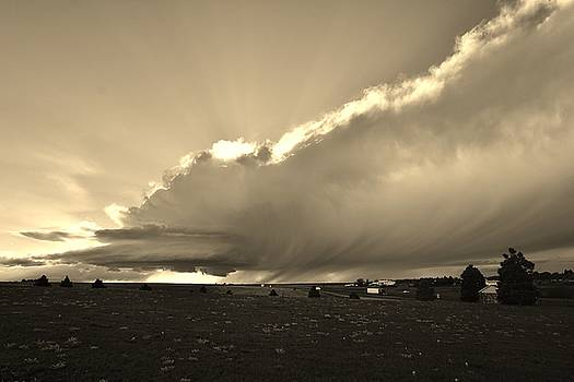 Low-Topped Supercell Black and White  by Ed Sweeney