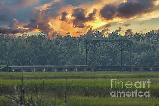 Lowcountry Marsh Train Trestle by Dale Powell