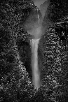 Raymond Salani III - Lower and Middle Yosemite Falls in Black and White