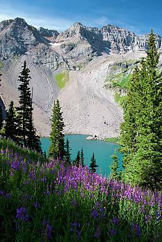 Lower Blue Lake Summer Portrait by Cascade Colors
