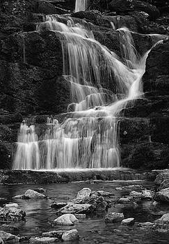 Lower Buttermilk Falls in Black and White by Raymond Salani III