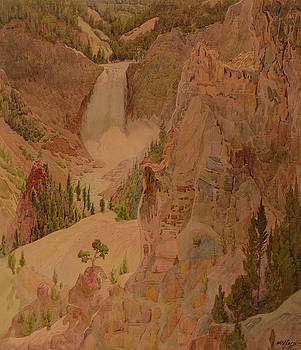 Lower Falls of the Yellowstone by MotionAge Designs