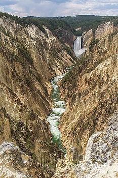 Lower Falls of the Yellowstone - Portrait by Jason Kolenda