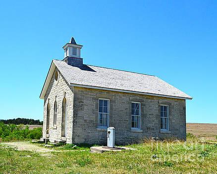 Lower Fox Creek Schoolhouse Under Blue Skies by Catherine Sherman