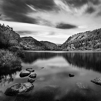 Lower Lake at Glendalough, County Wicklow - Ireland by Barry O Carroll