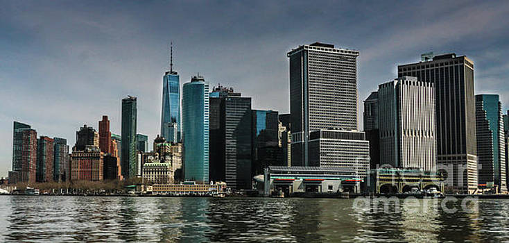 Lower Manhattan, the Bowery and the Ferry Terminal by Thomas Marchessault