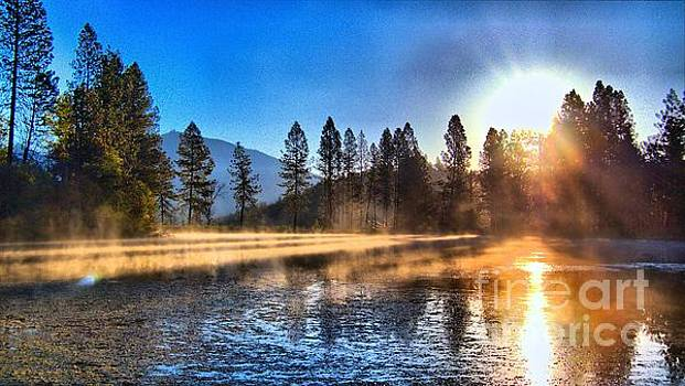 Lower Pond Sunrise In HDR by Julia Hassett
