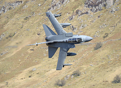 Lowflying Tornado in the Welsh hills 01 by Barry Culling
