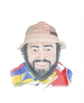 Luciano Pavarotti Portrait  by Bernardo Capicotto