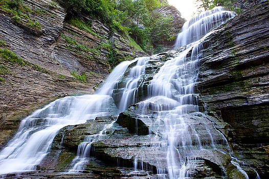 Lucifer Falls In Robert H. Treman State Park by John Daly