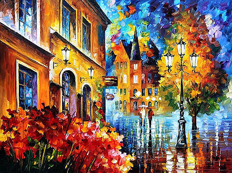Lucky Night - PALETTE KNIFE Oil Painting On Canvas By Leonid Afremov by Leonid Afremov