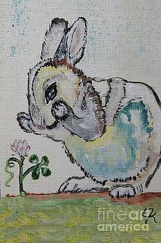 Lucky Rabbit painting print #895 by Ella Kaye Dickey