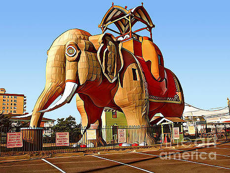 Lucy the Margate Elephant in Atlantic City New Jersey by Wernher Krutein