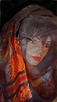 Lucy with Orange Scarf by Nareeta Martin