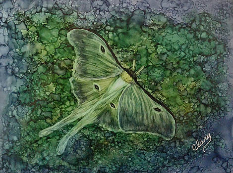 Luna Moth Dreamscape by Linda Clary