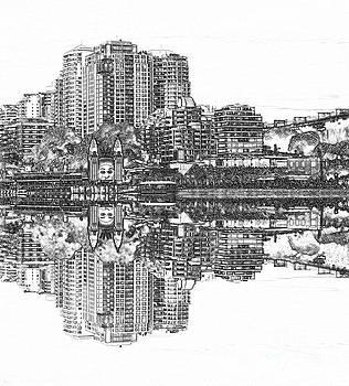 Luna Park Pencil Ink by Kaye Menner by Kaye Menner