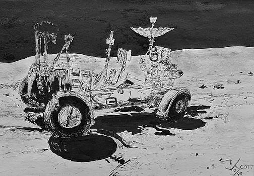 Lunar Rover on the Moon by James Scotti