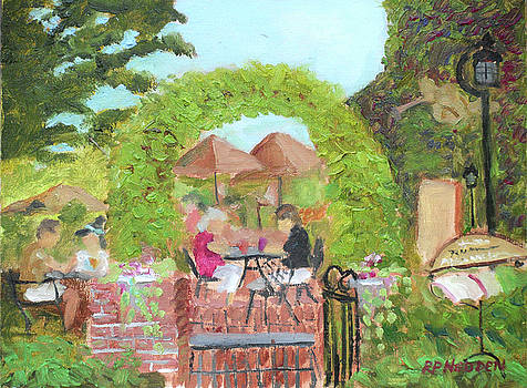 Lunch at Tin Pan Galley Sackets Harbor by Robert P Hedden