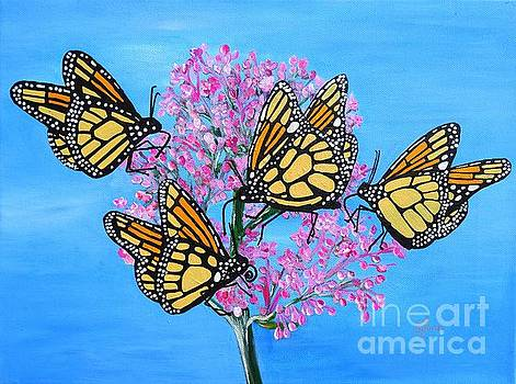 Butterfly Feeding Frenzy by Karen Jane Jones