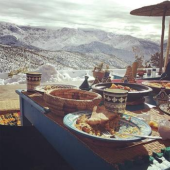 Lunch in the Atlas Mountains by Lori Fitzgibbons