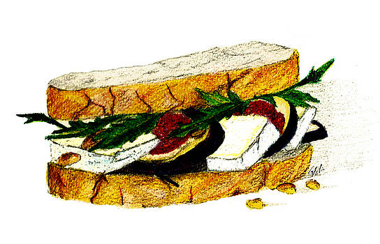 Lunch Menu #4- Fig and Brie Sandwich by Garima Srivastava