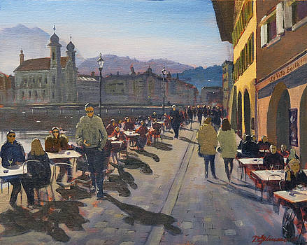 Lunchtime in Luzern by David Gilmore