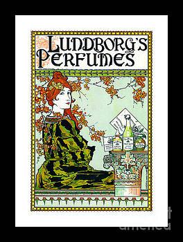Peter Gumaer Ogden - Lundborgs Perfumes 1894 Art Nouveau Aestheticism and Japonism Poster II Louis J Rhead