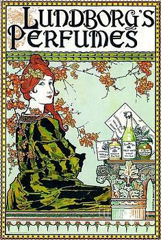 Peter Gumaer Ogden - Lundborgs Perfumes 1894 Art Nouveau Poster Louis J Rhead