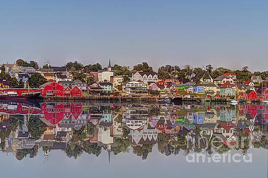 Dan Friend - Lunenburg harbor in Nova Scotia reflection