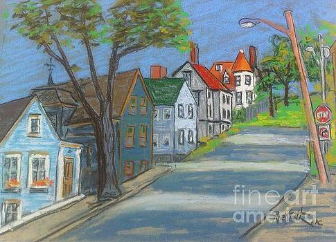 Lunenburg Street Scene by Rae  Smith PAC