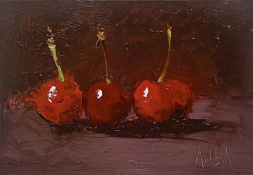 Luscious Cherries by Barbara Andolsek