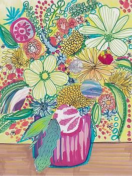 Lush Floral Bouquet by Rosalina Bojadschijew