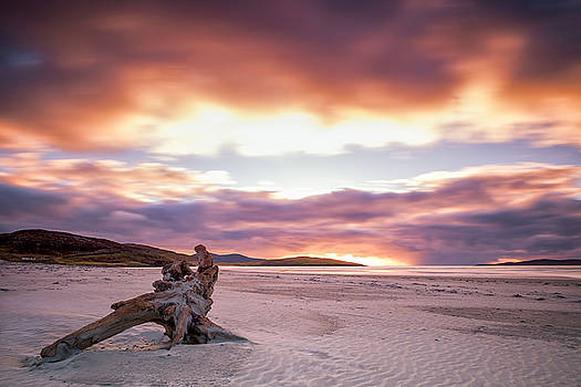 Luskentyre beach on Harris at sunset by Neil Alexander