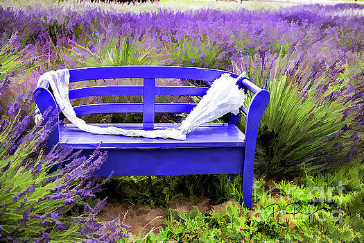 Luvin Lavender Farm Bench by Dee Riley