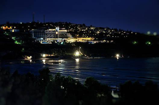 Luxury resort at night by Adrian Hancu