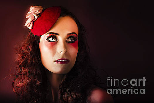 Luxury Woman In Red Makeup And Fashion Accessories by Jorgo Photography - Wall Art Gallery