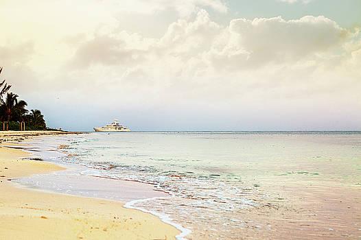 Luxury Yacht on Caribbean Sea by Susan Schmitz