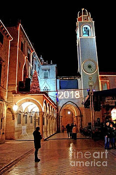 Luza And The Town Bell Tower Dubrovnik by Jasna Dragun