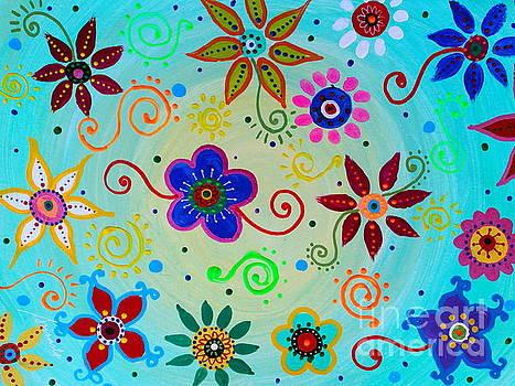 PRISTINE CARTERA TURKUS - LV WHIMSICAL FLOWERS III