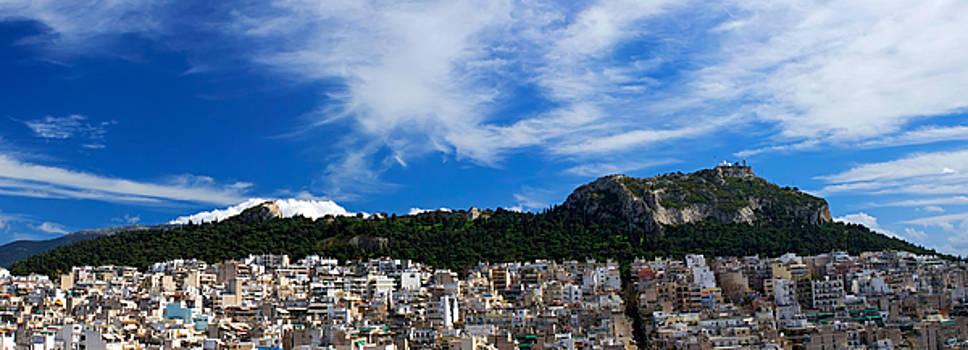 Lycabetus hill Athens Greece. Panoramic photo 80 Degrees by Vassilis Triantafyllidis