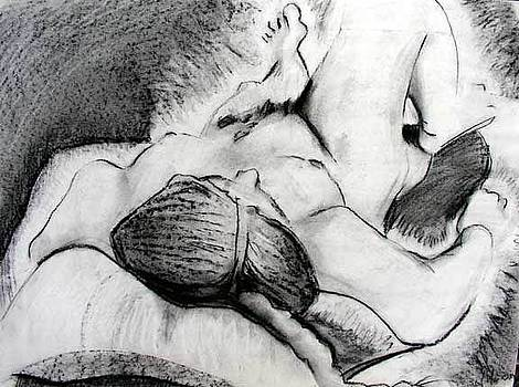 Lying Down Nude by Brad Wilson
