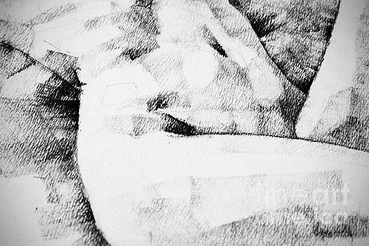 Lying Woman Close Up Detail Drawing by Dimitar Hristov