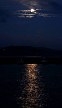 Lyme Regis By Moon by Mike Finding