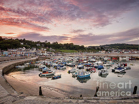 Lyme Regis Harbour by Colin and Linda McKie