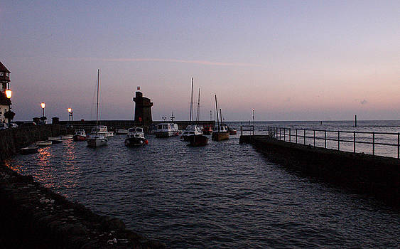 Lynmouth Harbour Evening Time by Mike Finding