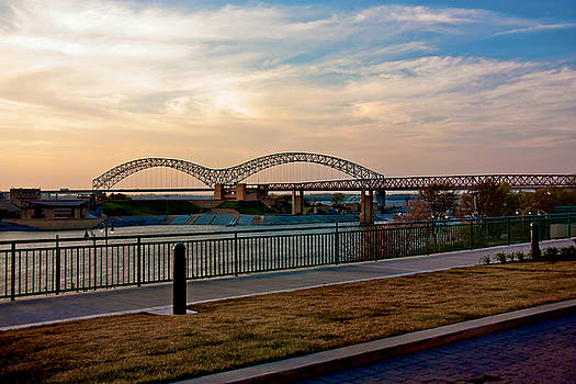 M Bridge and Mud Island by Suzanne Barber