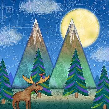 M is for Mountains and Moon by Valerie Drake Lesiak