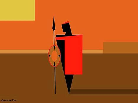 #maasai #warrior #minimalism #digitalart by Bohemian Fist