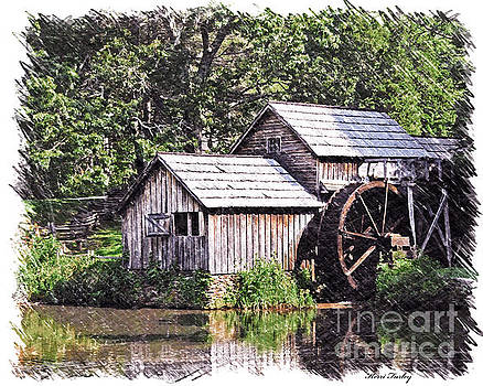 Mabry Mill - Digital Art by Kerri Farley