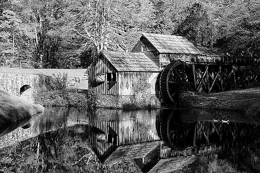 Jill Lang - Mabry Mill in Black and White